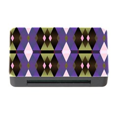 Geometric Abstract Background Art Memory Card Reader With Cf