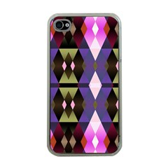 Geometric Abstract Background Art Apple iPhone 4 Case (Clear)
