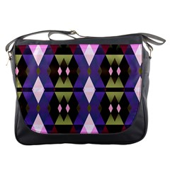 Geometric Abstract Background Art Messenger Bags