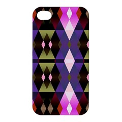 Geometric Abstract Background Art Apple Iphone 4/4s Premium Hardshell Case