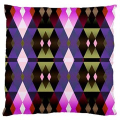 Geometric Abstract Background Art Large Cushion Case (two Sides)