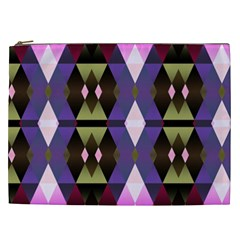 Geometric Abstract Background Art Cosmetic Bag (XXL)