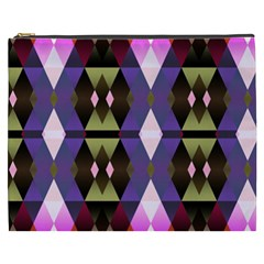 Geometric Abstract Background Art Cosmetic Bag (xxxl)