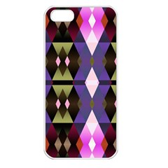 Geometric Abstract Background Art Apple Iphone 5 Seamless Case (white)