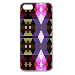Geometric Abstract Background Art Apple Seamless iPhone 5 Case (Clear)