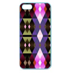 Geometric Abstract Background Art Apple Seamless Iphone 5 Case (color)