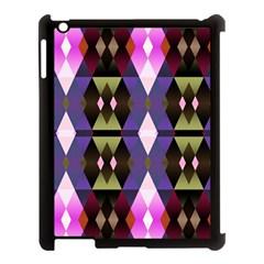 Geometric Abstract Background Art Apple iPad 3/4 Case (Black)