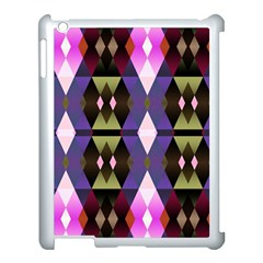 Geometric Abstract Background Art Apple Ipad 3/4 Case (white)