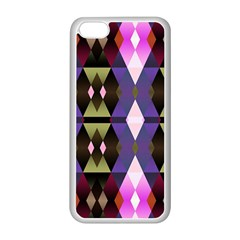 Geometric Abstract Background Art Apple iPhone 5C Seamless Case (White)