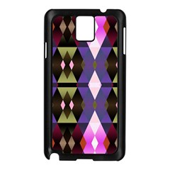 Geometric Abstract Background Art Samsung Galaxy Note 3 N9005 Case (Black)