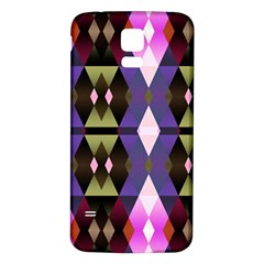 Geometric Abstract Background Art Samsung Galaxy S5 Back Case (White)