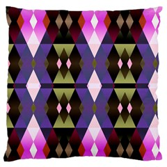 Geometric Abstract Background Art Large Flano Cushion Case (one Side)