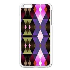 Geometric Abstract Background Art Apple Iphone 6 Plus/6s Plus Enamel White Case