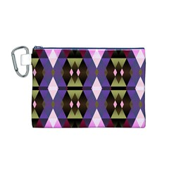 Geometric Abstract Background Art Canvas Cosmetic Bag (m)