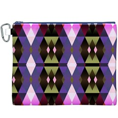 Geometric Abstract Background Art Canvas Cosmetic Bag (xxxl)