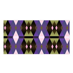 Geometric Abstract Background Art Satin Shawl