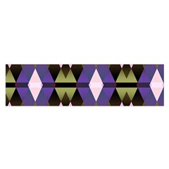 Geometric Abstract Background Art Satin Scarf (oblong)