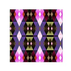 Geometric Abstract Background Art Small Satin Scarf (Square)