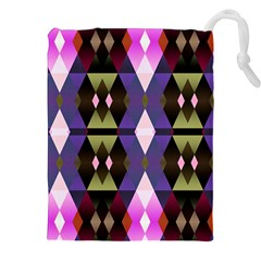 Geometric Abstract Background Art Drawstring Pouches (XXL)