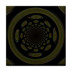 Dark Portal Fractal Esque Background Tile Coasters