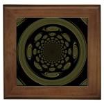 Dark Portal Fractal Esque Background Framed Tiles Front