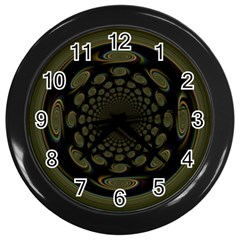 Dark Portal Fractal Esque Background Wall Clocks (black)
