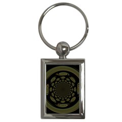 Dark Portal Fractal Esque Background Key Chains (rectangle)
