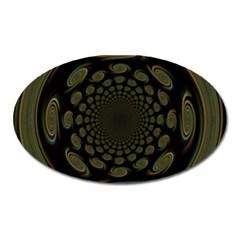 Dark Portal Fractal Esque Background Oval Magnet