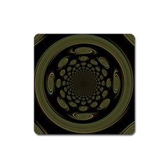 Dark Portal Fractal Esque Background Square Magnet