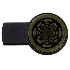 Dark Portal Fractal Esque Background USB Flash Drive Round (2 GB)
