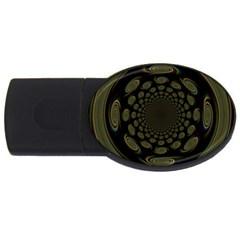 Dark Portal Fractal Esque Background USB Flash Drive Oval (1 GB)