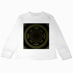 Dark Portal Fractal Esque Background Kids Long Sleeve T Shirts