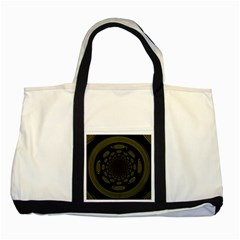 Dark Portal Fractal Esque Background Two Tone Tote Bag