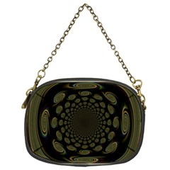 Dark Portal Fractal Esque Background Chain Purses (one Side)
