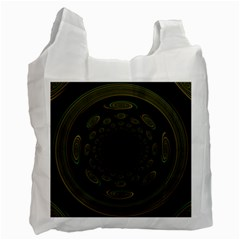 Dark Portal Fractal Esque Background Recycle Bag (two Side)