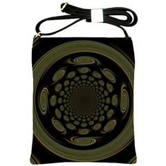 Dark Portal Fractal Esque Background Shoulder Sling Bags