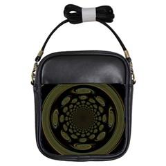 Dark Portal Fractal Esque Background Girls Sling Bags