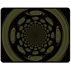 Dark Portal Fractal Esque Background Fleece Blanket (Medium)
