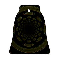 Dark Portal Fractal Esque Background Bell Ornament (two Sides)