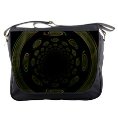 Dark Portal Fractal Esque Background Messenger Bags