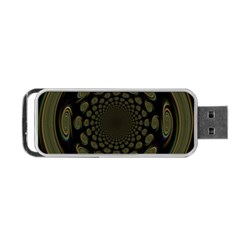 Dark Portal Fractal Esque Background Portable Usb Flash (one Side)