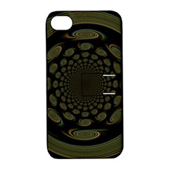 Dark Portal Fractal Esque Background Apple Iphone 4/4s Hardshell Case With Stand