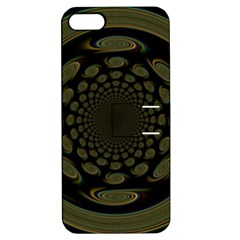 Dark Portal Fractal Esque Background Apple iPhone 5 Hardshell Case with Stand