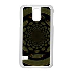 Dark Portal Fractal Esque Background Samsung Galaxy S5 Case (white)