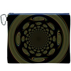 Dark Portal Fractal Esque Background Canvas Cosmetic Bag (xxxl)