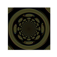 Dark Portal Fractal Esque Background Small Satin Scarf (square)