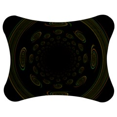 Dark Portal Fractal Esque Background Jigsaw Puzzle Photo Stand (bow)
