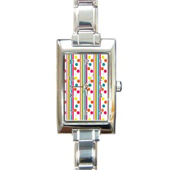 Stripes And Polka Dots Colorful Pattern Wallpaper Background Rectangle Italian Charm Watch
