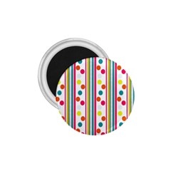 Stripes And Polka Dots Colorful Pattern Wallpaper Background 1 75  Magnets