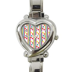 Stripes And Polka Dots Colorful Pattern Wallpaper Background Heart Italian Charm Watch